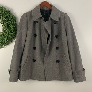 FOREVER 21 Gray Wool Blend Double Breasted Coat M